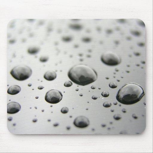 Gotitas de la lluvia mouse pads