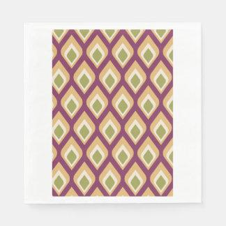 Gotitas púrpuras, verdes y amarillas servilleta desechable