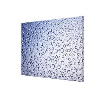 Gotitas regulares redondas de la condensación impresiones en lona