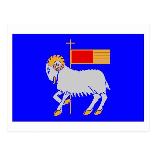 Gotlands län flag postcard