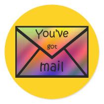 gotmail classic round sticker