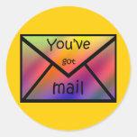 gotmail round sticker