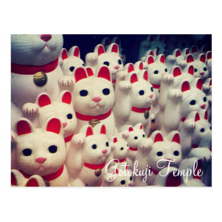 Gotokuji Temple's Maneki Neko Lucky Cats Postcard