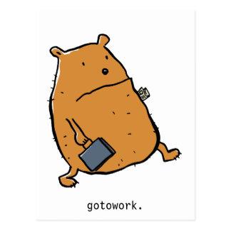 gotowork. postcard