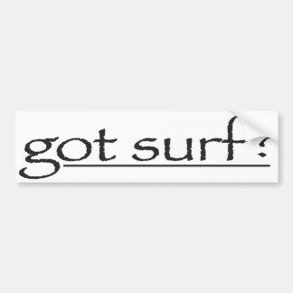 gotsurfbumpersticker pegatina para auto