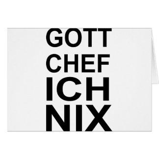 GOTT CHEF ICH NIX CARD