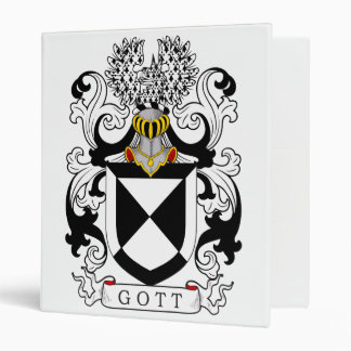 Gott Family Crest Vinyl Binder