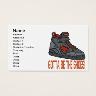 Gotta Be The Shoes Business Card