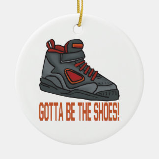 Gotta Be The Shoes Double-Sided Ceramic Round Christmas Ornament
