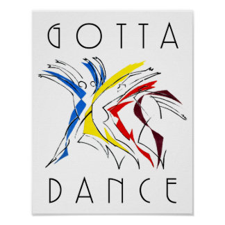 Gotta Dance Abstract Art Painting Poster
