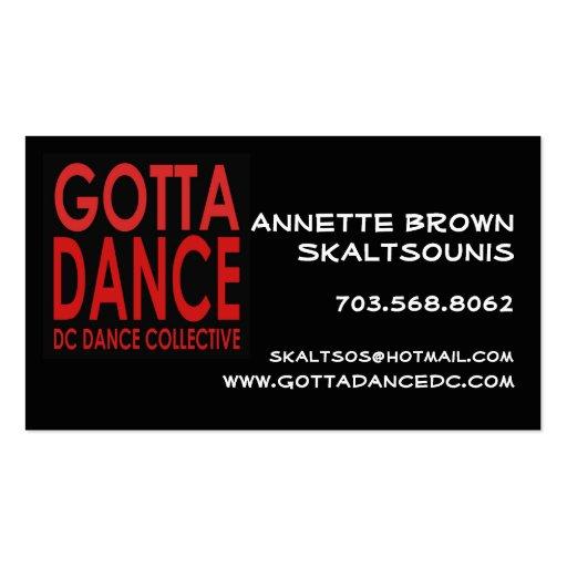 Gotta dance business card zazzle for Dance business cards