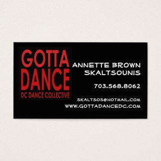 Gotta Dance Business Card