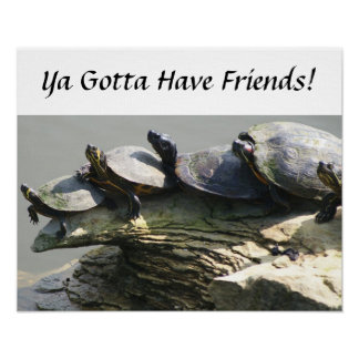 Gotta Have Friends, turtle friends. Poster