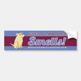 Gotta Love A Dog That Smells NoseWork BumperStickr Car Bumper Sticker