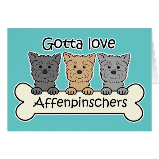 Gotta Love Affenpinschers Stationery Note Card