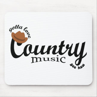 gotta love country music mousepads