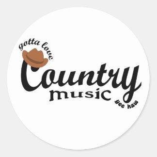 gotta love country  music yeehaw classic round sticker