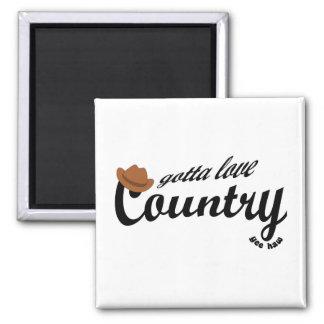 gotta love country yeehaw 2 inch square magnet