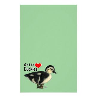 Gotta Love Duckies Stationery Paper