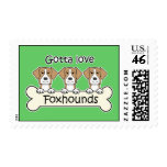 Gotta Love Foxhounds Postage Stamps
