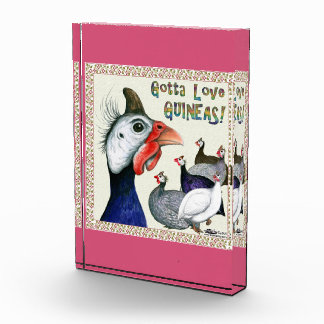 Gotta Love Guineas! Acrylic Award