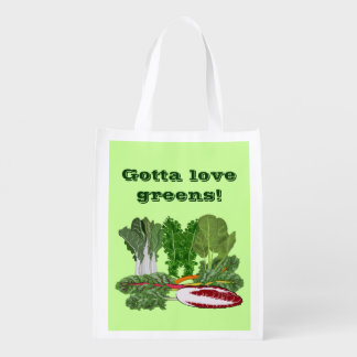 Gotta Love Leafy Greens Vegan Vegetarian Gardener Reusable Grocery Bag