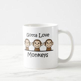 Gotta Love Monkeys Classic White Coffee Mug