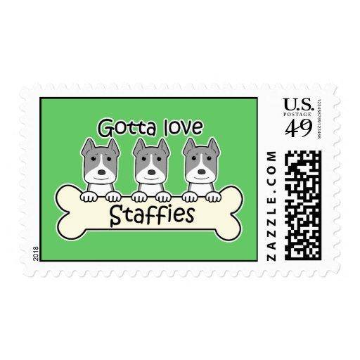 Gotta Love Staffies Stamp