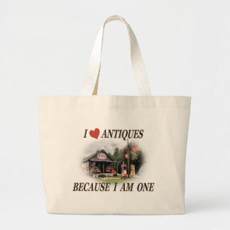 Gotta love the good old days large tote bag