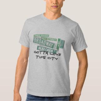 Gotta love this city - streets tee shirt