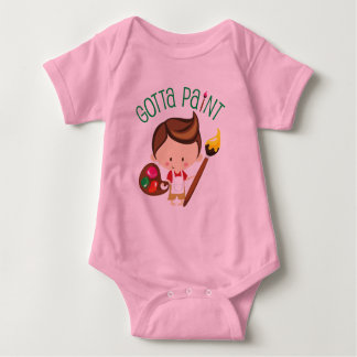 Gotta Paint Young Boy Painter Baby Bodysuit