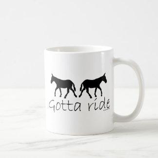 Gotta Ride Mule Silhouette Classic White Coffee Mug