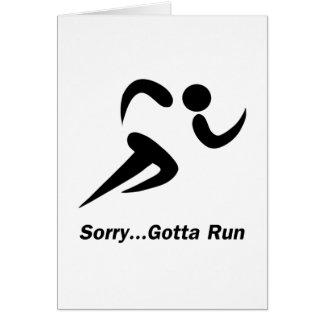 Gotta Run Stationery Note Card