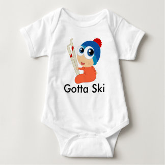 Gotta Ski Baby Creeper