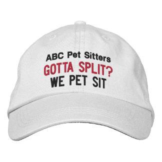 Gotta Split? We Pet Sit | Custom Pet Sitter's Embroidered Baseball Hat