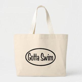 gotta swim Oval Large Tote Bag
