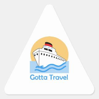 GOTTA TRAVEL TRIANGLE STICKER