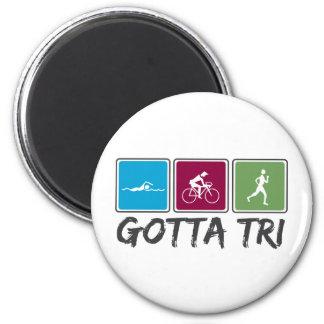 gotta tri (Triathlon) 2 Inch Round Magnet