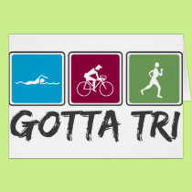 gotta tri (Triathlon) Card