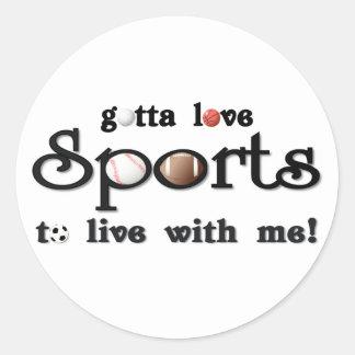 gottaloveSports Classic Round Sticker