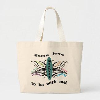 gottaloveSurfing Jumbo Tote Bag