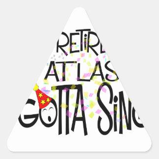 gottasingday19 pegatina triangular