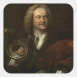 Gottfried Reiche, músico y a solas mayores Pegatinas Cuadradases