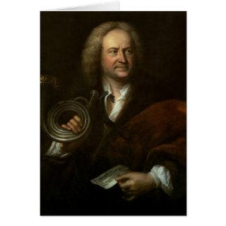 Gottfried Reiche, músico y a solas mayores Tarjeta De Felicitación