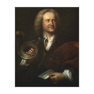 Gottfried Reiche , Senior Musician and Solo Canvas Print