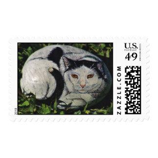 """Gotto"" cat rock stamp"