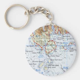 Gotts Island Map Key Chain