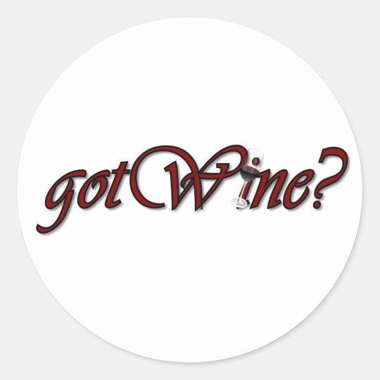 gotWine Classic Round Sticker