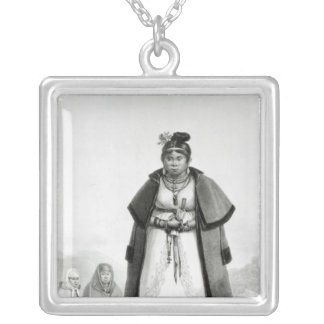 Gouaranis women going to Mass on Sunday Silver Plated Necklace