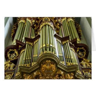 Gouda pipe organ card